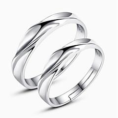 billige Motering-Par Parringer - Sølv Twist Circle damer, Klassisk, Mote Justerbar Sølv Til Daglig