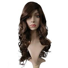 billiga Peruker och hårförlängning-Peruktillbehör / Syntetiska peruker Lockigt Frisyr i lager Syntetiskt hår Värmetåligt / syntetisk / Heta Försäljning Brun Peruk Dam