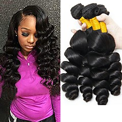 cheap Hair Extensions-4 Bundles Indian Hair Wavy 8A Human Hair Natural Color Hair Weaves / Hair Bulk Human Hair Extensions 8-28 inch Natural Color Human Hair Weaves Best Quality Hot Sale For Black Women Human Hair