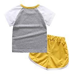 tanie Odzież dla chłopców-Brzdąc Dla chłopców Aktywny / Podstawowy Sport / Szkoła Nadruk Nadruk Krótki rękaw Bawełna Komplet odzieży