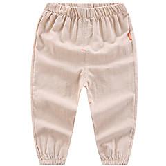 billige Bukser og leggings til piger-Baby Drenge / Pige Basale Daglig / Ferie Ensfarvet Bomuld / Polyester Bukser Grå 100