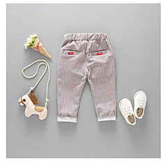 billige Bukser og leggings til piger-Børn Unisex Sort & Rød Stribet Bukser