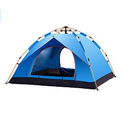 billige Telt og ly-DesertFox® 4 personer Turtelt Enkelt Automatisk Kuppel camping Tent Utendørs Regn-sikker til Camping / Vandring / Grotte Udforskning 1500-2000 mm Oxfordtøy, Oxford 200*200*130 cm