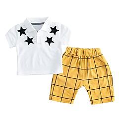 billige Tøjsæt til drenge-Baby Drenge Basale Sport Galakse / Trykt mønster Trykt mønster Kortærmet Bomuld Tøjsæt / Sødt