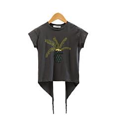 tanie Odzież dla dziewczynek-Dzieci Dla dziewczynek Nadruk Krótki rękaw T-shirt