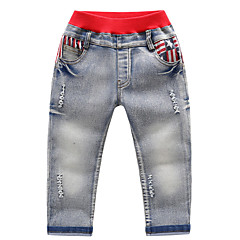 baratos Roupas de Meninos-Infantil Para Meninos Estampado Calças