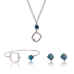 baratos Conjuntos de Bijuteria-Mulheres Sapphire sintético Conjunto de jóias - Fashion, Elegante Incluir Prata Para Aniversário / Rua / Brincos
