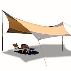billige Telt og ly-Beskyttelse & Presenning / Lytelt Stang camping Tent Utendørs Vindtett, UV-bestandig til Strand / Camping / Vandring / Grotte Udforskning 1000-1500 mm Oxfordtøy 560*550 cm