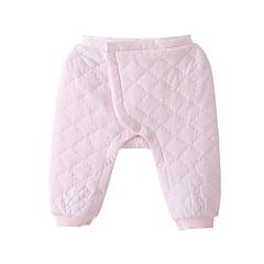 billige Babyunderdele-Baby Pige Basale Daglig Ensfarvet Polyester Bukser Lyserød