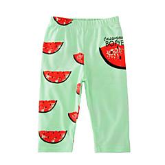 tanie Odzież dla dziewczynek-Brzdąc Dla dziewczynek Podstawowy Urlop Nadruk Nadruk Bawełna Spodnie