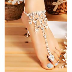 baratos Bijoux de Corps-Corrente Grossa Bijuteria para Pés - Estiloso, Clássico Prata Para Casamento / Bikini / Mulheres