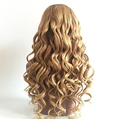billiga Peruker och hårförlängning-Remy-hår Peruk Brasilianskt hår Vågigt Frisyr i lager 130% Densitet Färgskiftande / Mörka hårrötter Blond Dam Korta / Lång / Mellanlängd Äkta peruker med hätta