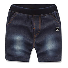 baratos Roupas de Meninos-Bébé Para Meninos Sólido Shorts