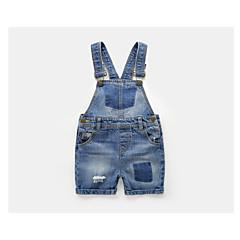 tanie Odzież dla chłopców-Dzieci Dla chłopców Podstawowy Codzienny Solidne kolory Wiązanie Bawełna / Poliester Spodnie Niebieski 100
