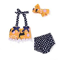billige Badetøj til piger-Baby Pige Sexet Strand Trykt mønster Uden ærmer Polyester / Nylon Badetøj Gul 100