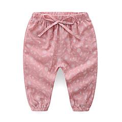 billige Bukser og leggings til piger-Børn Pige Aktiv Daglig Trykt mønster Trykt mønster Bomuld / Polyester Bukser Lyserød 100
