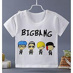 billige Overdele til drenge-Børn Drenge Gade Trykt mønster Kortærmet Bomuld T-shirt