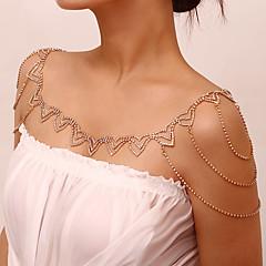 baratos Bijoux de Corps-Camadas Cadeia braço Estiloso, Na moda, Elegante Mulheres Dourado / Prata Bijuteria de Corpo Para Rua / Bikini