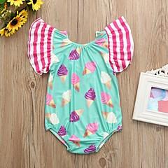 billige Badetøj til piger-Børn Pige Geometrisk / Farveblok Uden ærmer Badetøj