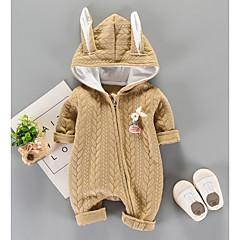 billige Babytøj-Baby Pige Trykt mønster Langærmet Overall og jumpsuit