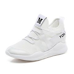 baratos Tênis de Corrida-Mulheres Tênis / Sapatos Casuais Borracha Exercício e Atividade Física / Corrida Ultra Leve (UL), Respirável Pele Sintética Branco /