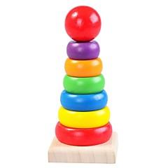 billige Puslespill i tre-Puslespill i tre Tårn Praktisk Grep / Foreldre-barninteraksjon Tre 8 pcs Barnehage Gave