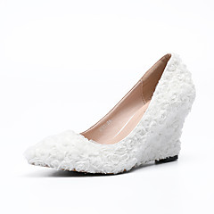 Mujer Zapatos Satén Elástico Primavera / Verano Pump Básico Zapatos de boda Tacón Stiletto Dedo redondo Perla Azul / Rosa / Champaña y4DGC