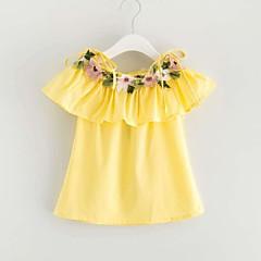 billige Babykjoler-Baby Pige Aktiv Blomstret Uden ærmer Bomuld Kjole
