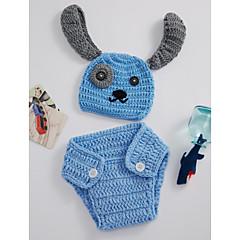 billige Sett med babyklær-Baby Pige Simple Daglig Ensfarvet Uden ærmer Bambus Fiber Tøjsæt Blå En Størrelse