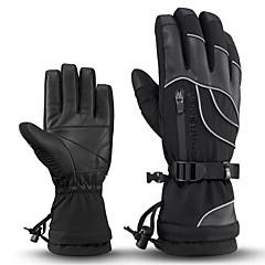 baratos Luvas de Motociclista-ROCKBROS Dedo Total Unisexo Motos luvas Pele / Tecido Prova-de-Água / Manter Quente / Non-Slip