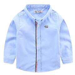 billige Overdele til drenge-Baby Drenge Farveblok Langærmet Skjorte