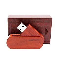 baratos Pen Drive USB-Ants 8GB unidade flash usb disco usb USB 2.0 Madeira / Bambu Rotativo