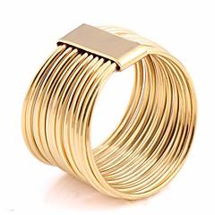 billige Motering-Par Lag-på-lag Multi-fingerring - Titanium Stål Kreativ Statement, Europeisk, trendy 6 / 7 / 8 Gull Til Ferie / Ut på byen