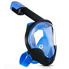 billiga Dykmasker, snorklar och simfötter-Dykmasker Anti-Dimma, Heltäckande ansiktsmasker, 180° enda fönster - Simmning, Dykning, Snorkelfenor PC, Kiselgel - för Vuxen Svart / Orange / Blå
