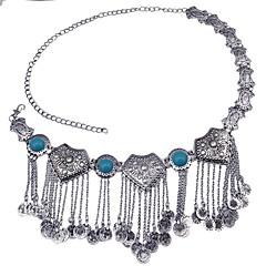 baratos Bijoux de Corps-Franjas / Fashion Corrente para Cintura Criativo Importante, Borla, Fashion Mulheres Preto / Azul Bijuteria de Corpo Para Bandagem / Bagels