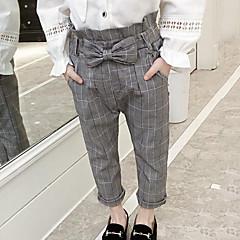 billige Bukser og leggings til piger-Børn Pige Gade I-byen-tøj Ternet Sløjfer Bukser
