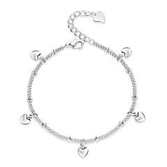 baratos Bijoux de Corps-Fashion Tornezeleira - Coração Estilo bonito Prata Para Presente / Diário / Mulheres