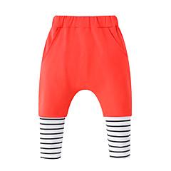 billige Babyunderdele-Baby Pige Aktiv / Basale I-byen-tøj Ensfarvet / Stribet Bomuld Bukser