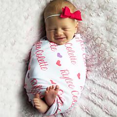 baratos Acessórios para Crianças-Infantil / Bébé / Recém-Nascido Unisexo Frases e Citações / Moderno / Texto / Número Cobertor