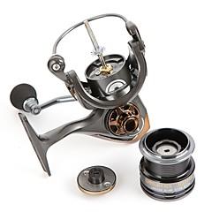 billiga Fiskerullar-Fiskerullar Snurrande hjul 6.7:1 Växlingsförhållande+6 Kullager Hand Orientering utbytbar Sjöfiske / Kastfiske / Spinnfiske