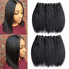 Χαμηλού Κόστους Ρεμί Εξτένσιον από Ανθρώπινη Τρίχα-Remy Τρίχα ύφανση μαλλιά Η καλύτερη ποιότητα / Νέα άφιξη / Για μαύρες γυναίκες Βραζιλιάνικη Μεσαίο Μήκος 300 g Περισσότερο από 1 Χρόνο Σκηνή / Απόκριες / Γαμήλιο Πάρτι