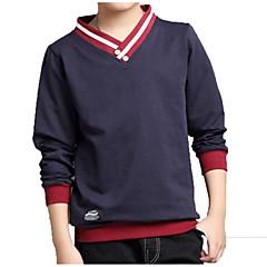billige Overdele til drenge-Børn Drenge Basale / Gade Daglig / Sport Patchwork Patchwork Langærmet Bomuld / Polyester T-shirt Grøn