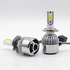 billige Frontlykter til bil-SO.K 2pcs 880/892 / H7 / H4 Bil Elpærer 30 W Integrert LED / COB 6000 lm 2 LED Hodelykt Alle år