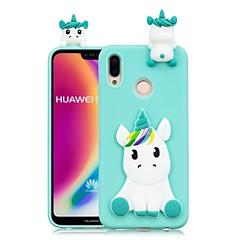 billige Telefoner og nettbrett-Etui Til Huawei P20 Pro / P20 lite GDS Bakdeksel enhjørning Myk TPU til Huawei P20 / Huawei P20 Pro / Huawei P20 lite