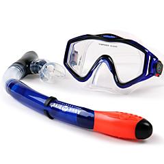 billiga Dykmasker, snorklar och simfötter-Dykning Paket - Dykmaske, Snorkel - Anti-Dimma Simmning, Dykning, Snorkelfenor Silikon För Vuxen