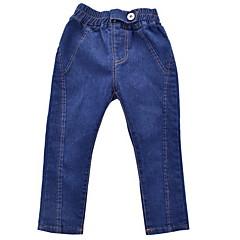 billige Jeans til piger-Børn Pige Basale Trykt mønster Patchwork Bomuld Jeans