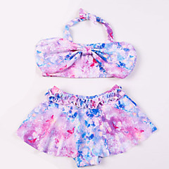 billige Badetøj til piger-Børn Pige Ensfarvet Badetøj