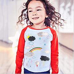 baratos Roupas de Meninas-Infantil / Bébé Para Meninas Galáxia Manga Longa Camiseta
