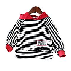 billige Hættetrøjer og sweatshirts til piger-Børn Pige Ensfarvet / Stribet Langærmet Hættetrøje og sweatshirt