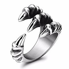 billige Motering-Herre Elegant Statement Ring Tail Ring - Titanium Stål Drage Statement, Stilfull 7 / 8 / 9 / 10 / 11 Sølv Til Maskerade Festival
